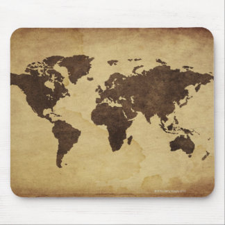 Close up of antique world map 3 mouse mat