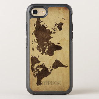 Close up of antique world map 3 OtterBox symmetry iPhone 8/7 case