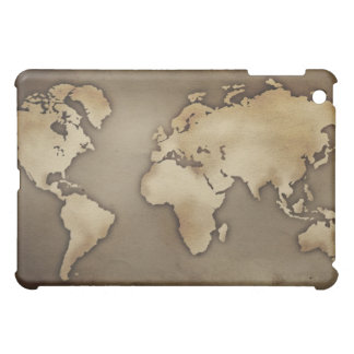Close up of antique world map 4 iPad mini covers