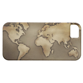 Close up of antique world map 4 iPhone 5 cover