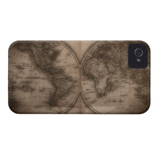 Close up of antique world map 5 Case-Mate iPhone 4 cases
