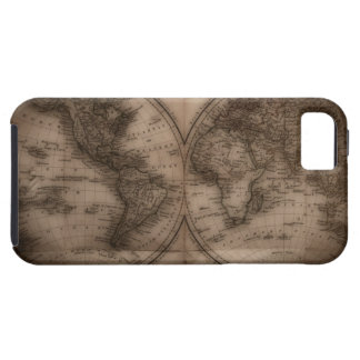 Close up of antique world map 5 iPhone 5 cases