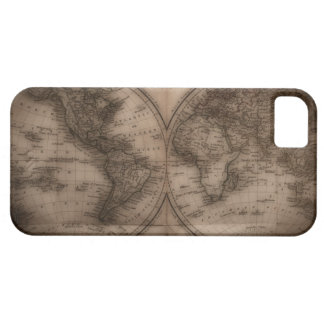 Close up of antique world map 5 iPhone 5 cover