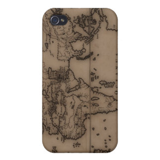 Close up of antique world map 7 iPhone 4 cover