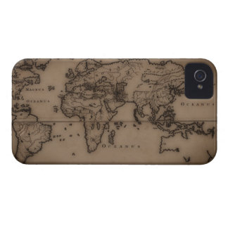 Close up of antique world map 7 iPhone 4 covers