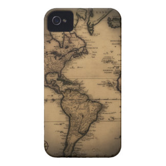 Close up of antique world map iPhone 4 cover