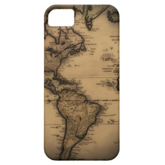 Close up of antique world map iPhone 5 cover