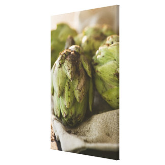 Close up of artichoke canvas print
