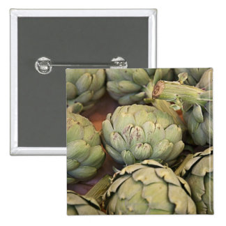 Close up of artichokes pinback buttons
