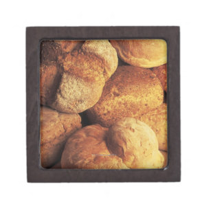close-up of baked bread gift box