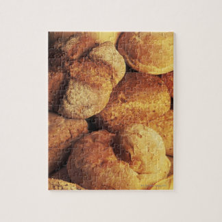 close-up of baked bread puzzles