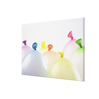 Close-up of balloons canvas print