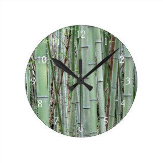 Close-up of bamboo grove round clock