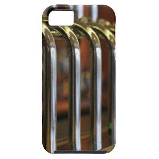 Close-up of bar taps tough iPhone 5 case