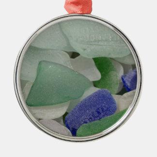 Close up of beach glass, Alaska Christmas Ornament