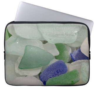 Close up of beach glass, Alaska Laptop Sleeve