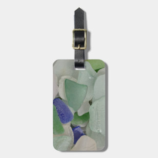 Close up of beach glass, Alaska Luggage Tag