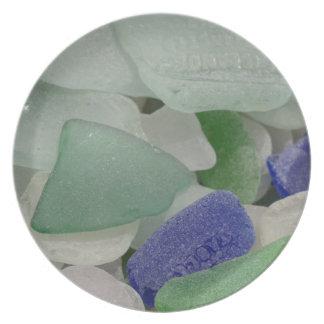 Close up of beach glass, Alaska Plate