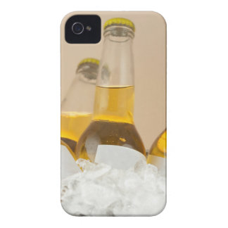 Close-up of beer bottles in ice iPhone 4 case