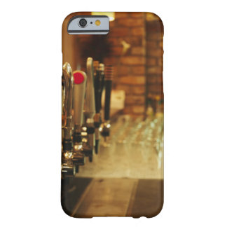 Close-up of beer taps in bar 2 iPhone 6 case
