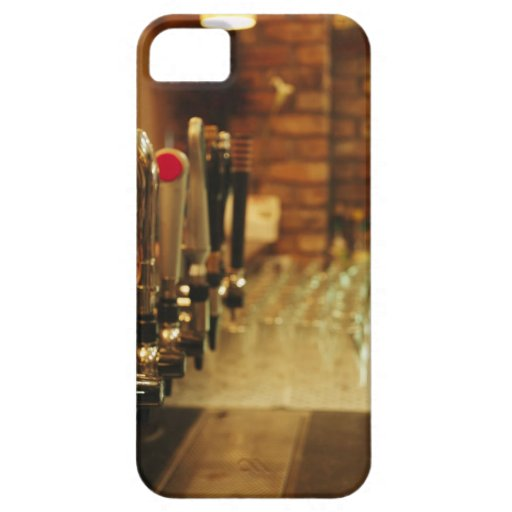 Close-up of beer taps in bar 2 iPhone 5 cases