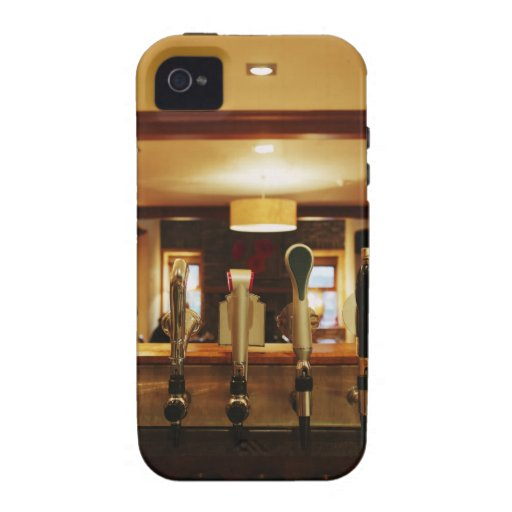 Close-up of beer taps in bar Case-Mate iPhone 4 covers