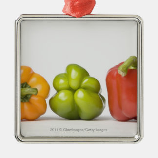 Close-up of bell peppers in a row christmas ornament
