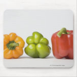 Close-up of bell peppers in a row mouse pad
