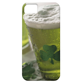 Close up of beverages with shamrocks on glass barely there iPhone 5 case
