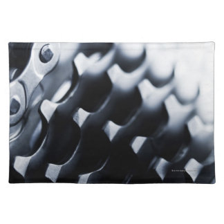 Close up of bicycle gears placemat