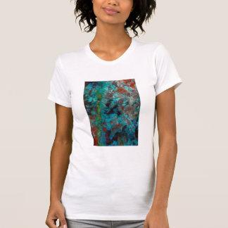 Close up of blue Shattuckite T-Shirt