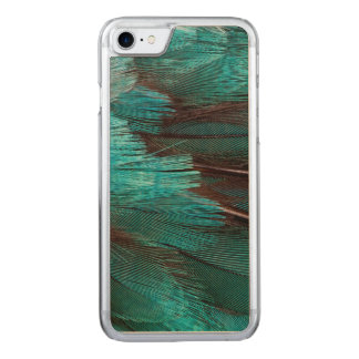 Close up of blue wing feathers carved iPhone 7 case