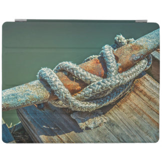 Close-up of boat cleat and rope iPad cover
