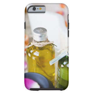 Close up of bottles with massage oils tough iPhone 6 case