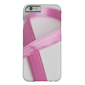 Close up of Breast Cancer Awareness Ribbon Barely There iPhone 6 Case