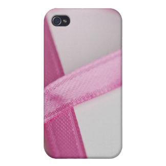 Close up of Breast Cancer Awareness Ribbon iPhone 4/4S Covers