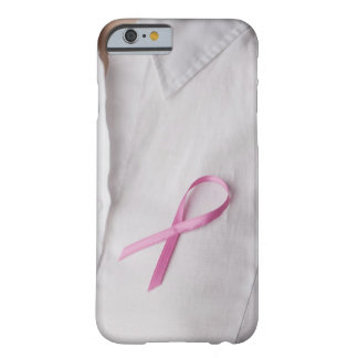 Close up of Breast Cancer Awareness Ribbon on Barely There iPhone 6 Case