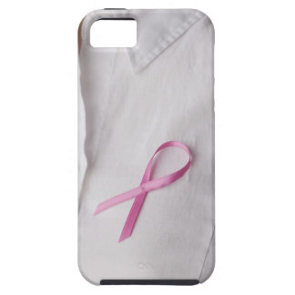 Close up of Breast Cancer Awareness Ribbon on iPhone 5 Cases