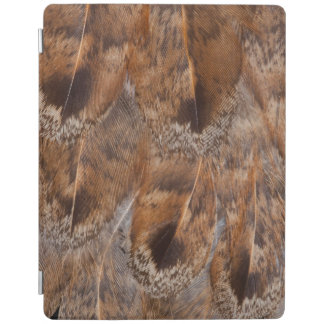 Close Up Of Brown Feathers iPad Cover