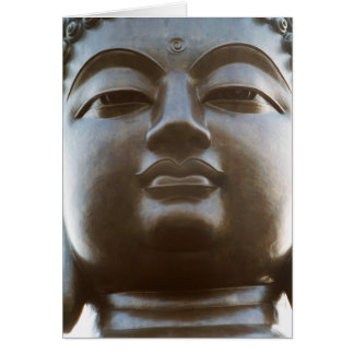 Close-up of Buddha statue Card