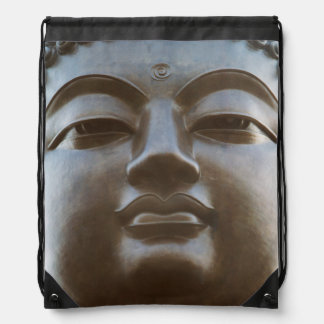 Close-up of Buddha statue Drawstring Bag