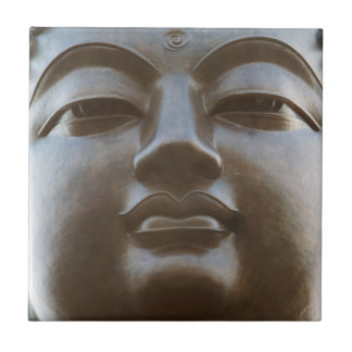 Close-up of Buddha statue Small Square Tile