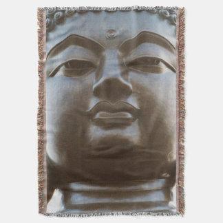 Close-up of Buddha statue Throw Blanket
