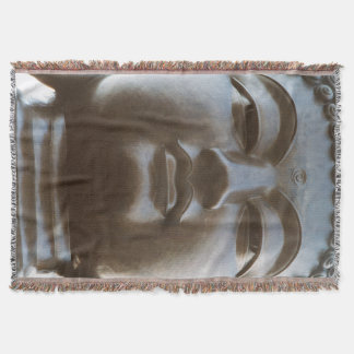 Close-up of Buddha statue Throw Blanket