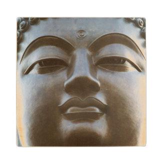 Close-up of Buddha statue Wood Coaster