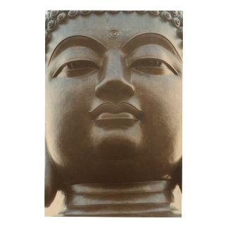 Close-up of Buddha statue Wood Wall Art