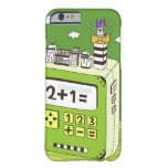 Close-up of buildings on a calculator barely there iPhone 6 case