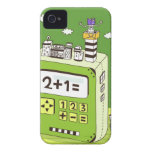 Close-up of buildings on a calculator iPhone 4 covers