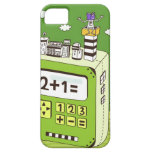 Close-up of buildings on a calculator iPhone 5 cases