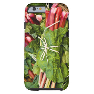 Close-up of bunches of rhubarb in basket tough iPhone 6 case